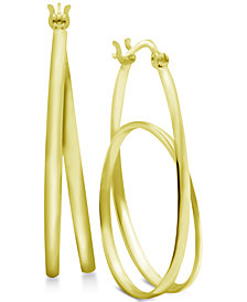 Essentials Oval Loop Hoop Earrings