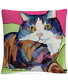 "Pat Saunders-White Ursula 16"" x 16"" Decorative Throw Pillow"