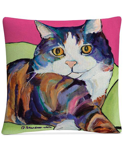 """Baldwin Pat Saunders-White Ursula 16"""" x 16"""" Decorative Throw Pillow"""