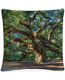"Pierre Leclerc Angel Oak Charleston 16"" x 16"" Decorative Throw Pillow"