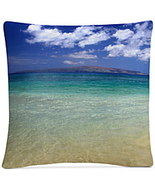 "Pierre Leclerc Hawaii Blue Beach 16"" x 16"" Decorative Throw Pillow"