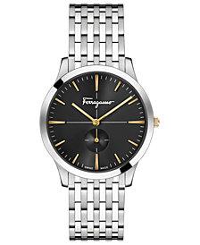 Ferragamo Men's Swiss Slim Formal Stainless Steel Bracelet Watch 40mm