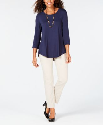 Scoop-Neck Top, In Regular and Petite, Created for Macy's