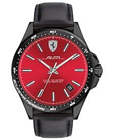 Men's Pilota Black Silicone Strap Watch 42mm