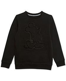 Disney Big Boys Embossed Mickey Mouse Sweatshirt