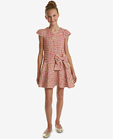 Rare Editions Big Girls Boucle Drop Waist Dress