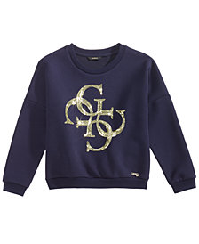 GUESS Big Girls Sequin Fleece Sweatshirt