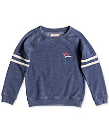 Roxy Little Girls Football-Stripe Sweatshirt
