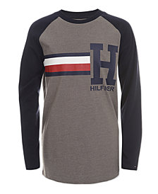 Tommy Hilfiger Big Boys Raglan Signature Shirt