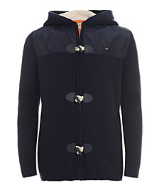 Tommy Hilfiger Toddler Boys Mixed Media Hooded Sweater