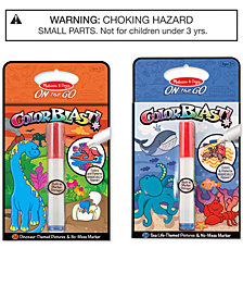 Melissa & Doug 2-Pk. ColorBlast! Sea Life & Dinosaurs Bundle