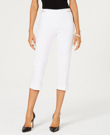 JM Collection Embellished Pull-On Cropped Pants, Created for Macy's