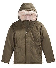 The North Face Little & Big Girls Greenland Hooded Down Parka with Removable Faux-Fur Trim