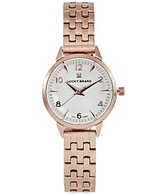 Lucky Brand Women's Torrey Mini Rose Gold-Tone Stainless Steel Bracelet Watch 28mm