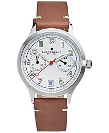 Men's Jefferson Brown Leather Strap Watch 38mm