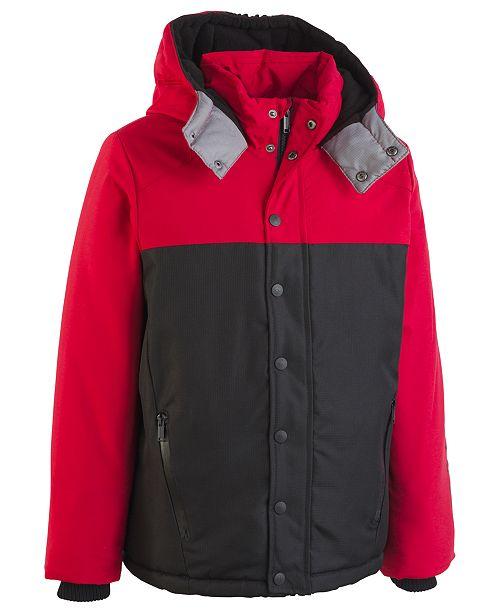 2cc8d7cef701 Calvin Klein Big Boys Peak Tech Hooded Jacket   Reviews - Coats ...