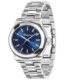 Ferragamo Men's Swiss 1898 Stainless Steel Bracelet Watch 40mm
