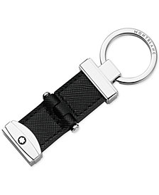 Montblanc Sartorial Black Leather Keychain