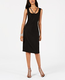 Connected Embellished Sheath Dress