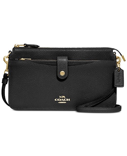 90c77455a COACH Pebble Pop Up Crossbody Wallet in Pebble Leather & Reviews ...