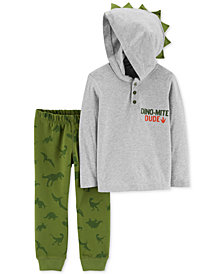 Carter's Baby Boys 2-Pc. Cotton Hooded Top & Jogger Pants Set