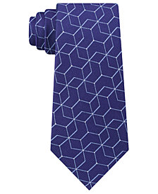 Calvin Klein Men's Constellation Slim Silk Tie