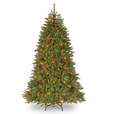 National Tree 7 .5' Dunhill Fir Hinged Tree with 750 Multi Lights