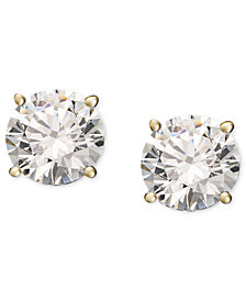 Diamond Stud Earrings (1/5 ct. t.w.) in 14k White or Yellow Gold