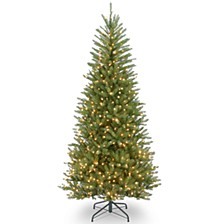 National Tree 7 .5' Dunhill Slim Fir Hinged Tree with 600 Clear Lights