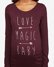 Motherhood Maternity Love Magic Baby Long Sleeve Maternity Shirt