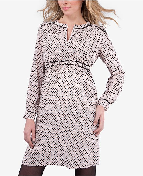 a0311f827d5f5 Seraphine Maternity Printed A-Line Dress & Reviews - Maternity ...