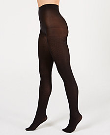 HUE® Control-Top Diamond Tights