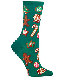 Hot Sox Women's Decorative Cookies Crew Socks