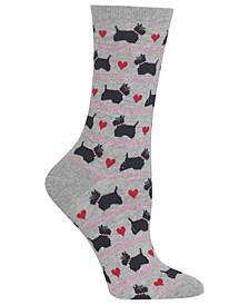 Women's Scottie Dogs & Hearts Socks