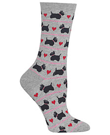 Hot Sox Women's Scottie Dogs & Hearts Socks