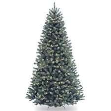 National Tree 7' North Valley Spruce Blue Hinged Tree with 550 Clear Lights