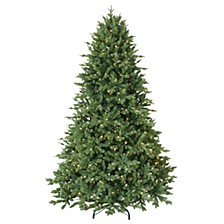 National Tree 7 .5'Feel RealChesterfield Spruce Hinged Tree with 650 Dual Color LED Lights