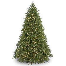"National Tree 9' ""Feel Real"" Jersey Fraser Medium Fir Hinged Tree with 1500 Clear Lights"