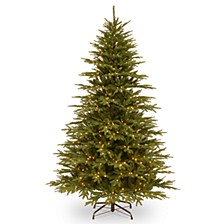 National Tree 7 .5' Feel Real Monterey Fir Hinged Tree with 800 Clear Lights
