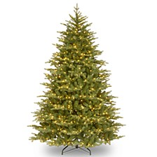 "National Tree 9' ""Feel Real"" Nordic Spruce Medium Hinged Tree with 1100 Clear Lights"