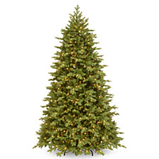 National Tree Company 6 .5' Feel Real  Princeton Fraser Fir Hinged Tree with 700 Dual Color  LED Lights &  PowerConnect™