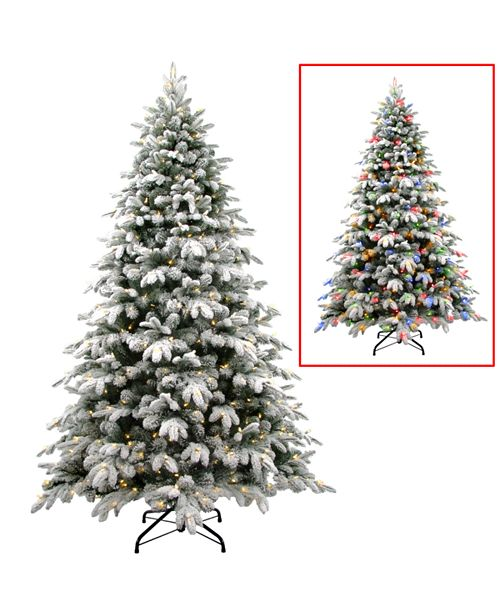 National Tree Company National Tree 7 .5' Snowy Avalanche Tree with 750 Dual Color LED Lights