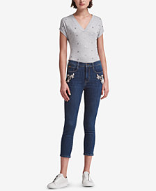 DKNY Embellished Skinny Jeans, Created for Macy's