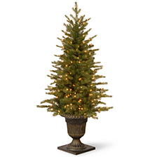"National Tree 4' ""Feel Real"" Nordic Spruce Entrance Tree with 100 Clear Lights"
