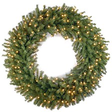 """42"""" Norwood Fir Wreath with 150 Clear Lights"""