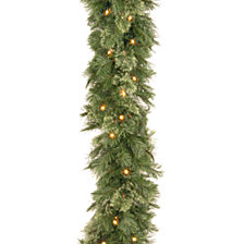 "National Tree Company 9' x 10"" Wispy Willow Garland with 50 Clear Lights"