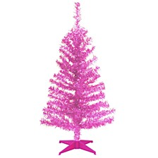 National Tree 3 ft. Pink Tinsel Tree