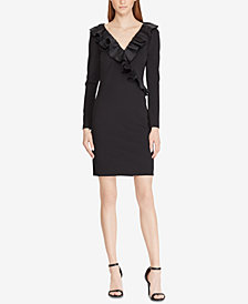Lauren Ralph Lauren Taffeta-Trim Dress