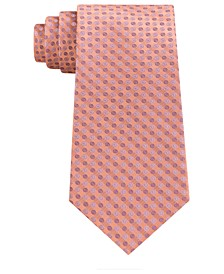Men's Mini Bullseye Slim Silk Tie