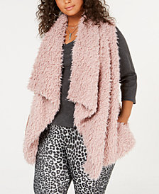 Say What? Trendy Plus Size Fleece Vest